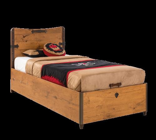 łóżko Dziecięce Z Pojemnikiem Na Pościel Pirat 90 X 190 Małego Pirata Cilek