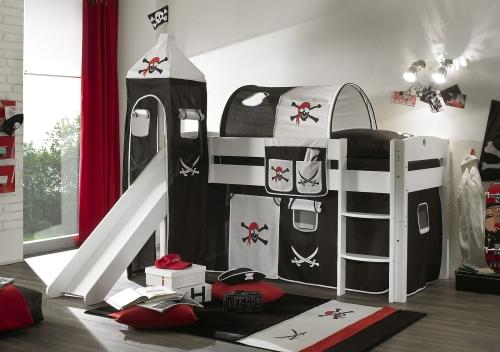 łóżko Piętrowe Dla Małego Pirata Z Tunelem