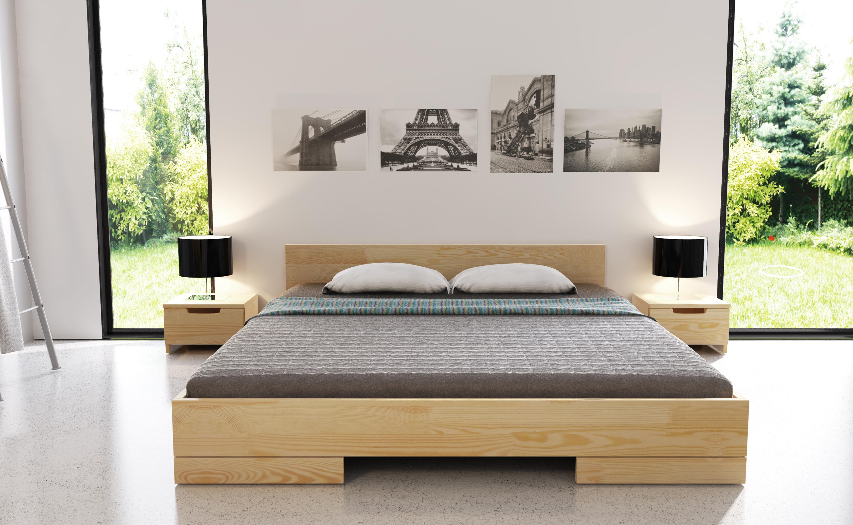Nowoczesne łóżka Skandynawskie Tanie Drewniane łóżka