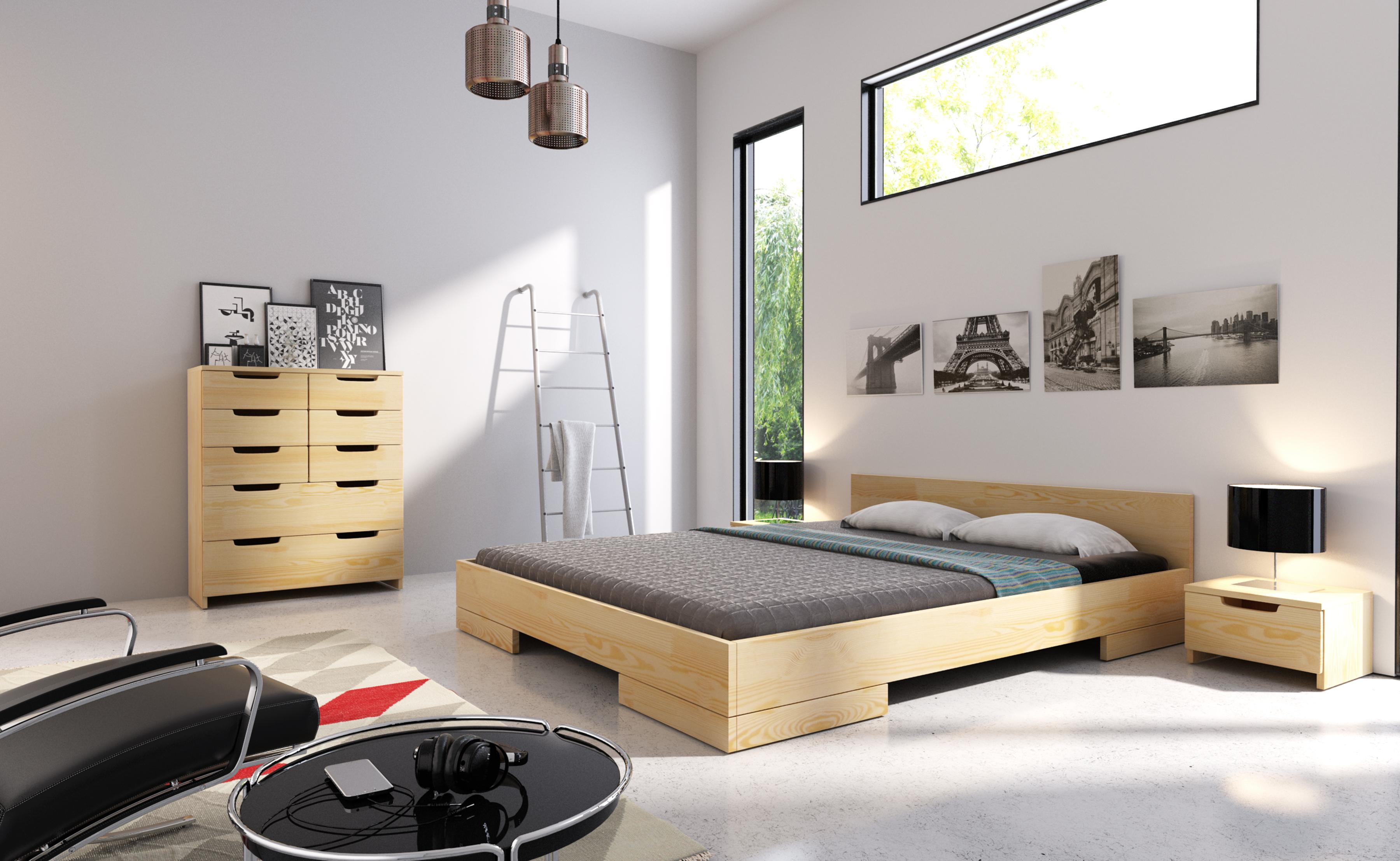 Cudowna Sypialnie Skandynawskie - nowoczesne łóżka drewniane HP14