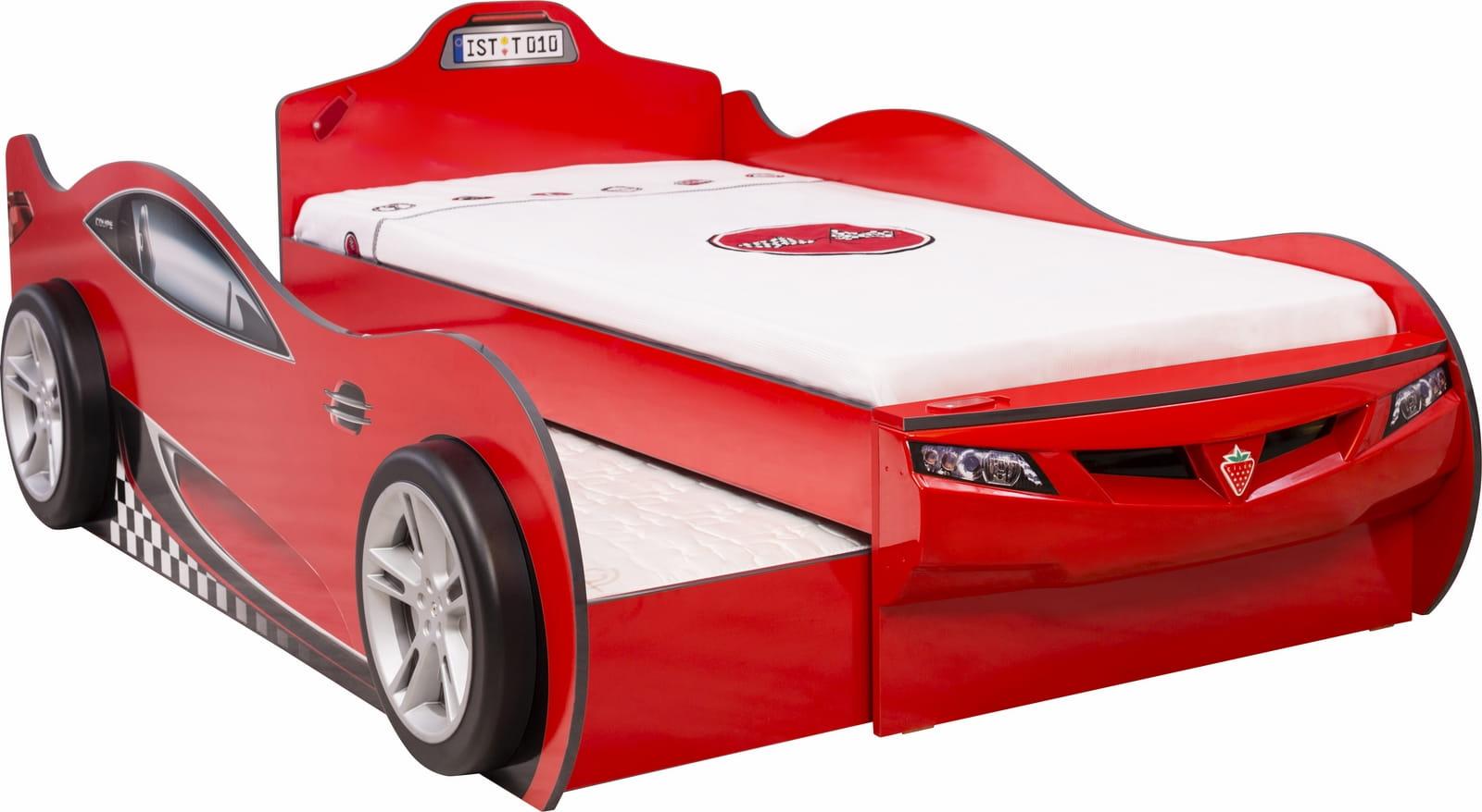 Groovy łóżko dziecięce podwójne spanie auto Cars Racer, meble systemowe HF89