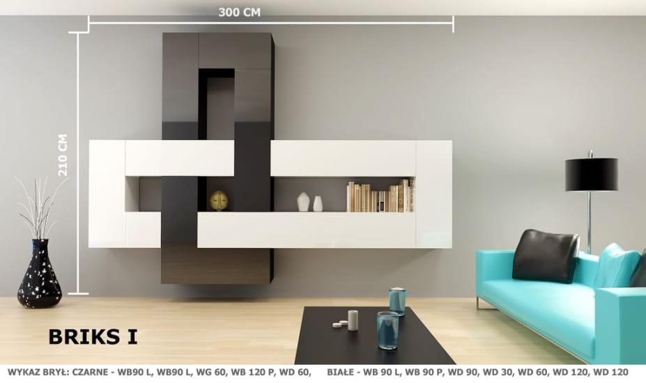Briks szafka wisz ca wb 120 p l tanie meble layman for Moderne wohnzimmerwand