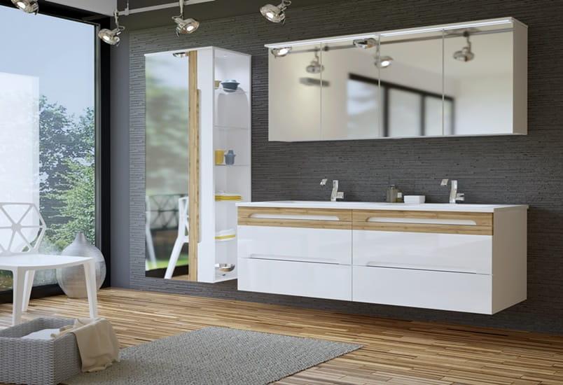 Słupek Szafka Do łazienki Gala 35170 Białe łazienka W Połysku