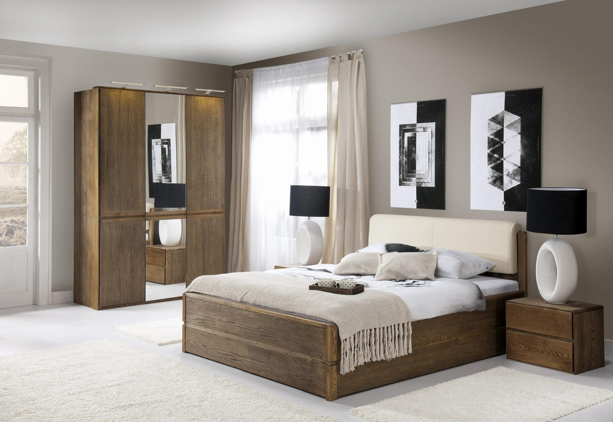 łóżko Drewniane Atlanta Typ 16 Masywne łóżka Do Sypialni