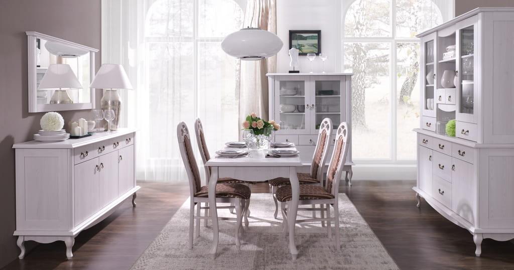 Wybitny Meble stylowe Diana Krzesło IRYS białe, meble systemowe, tanie BF64