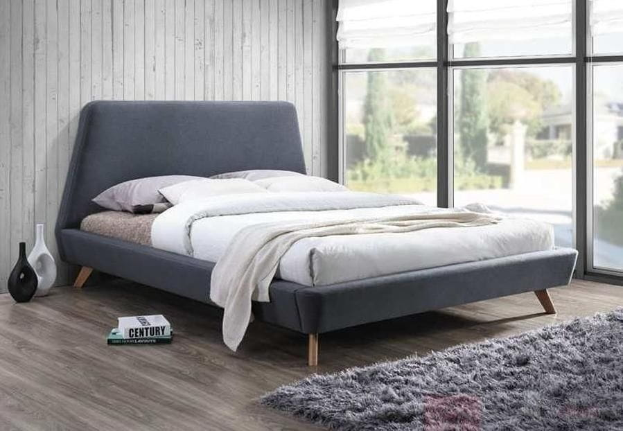 łóżko Do Sypialni Gant 160 Szare Solidne Meble Do Sypialni