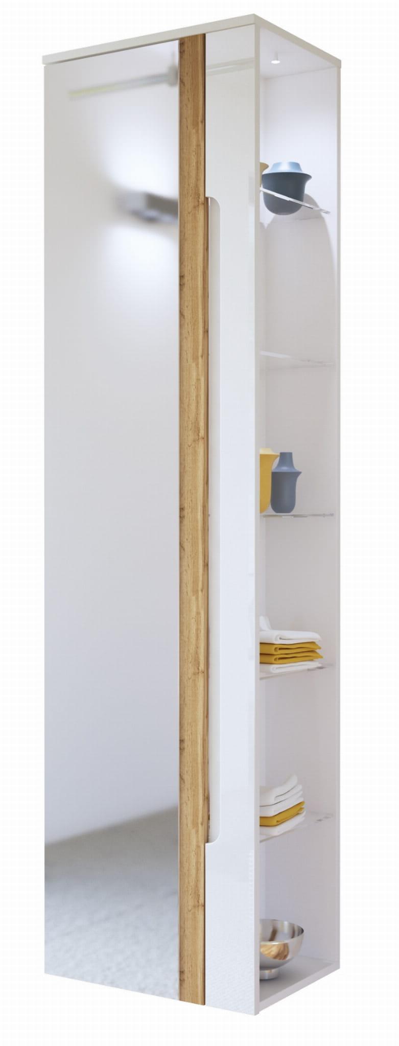 Słupek Szafka Do łazienki Gala Z Lustrem 17045 Białe łazienka