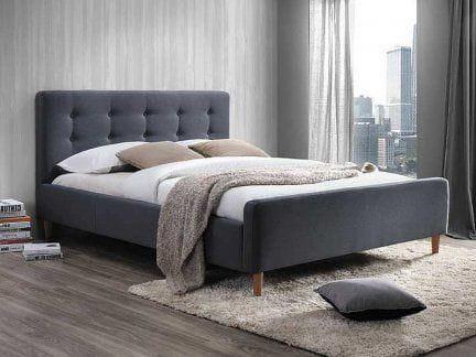 łóżko Do Sypialni Pinko 160 Szare Solidne Meble Do Sypialni