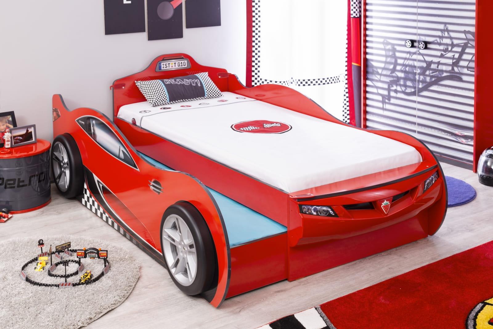 łóżko Dziecięce Podwójne Spanie Auto Cars Racer