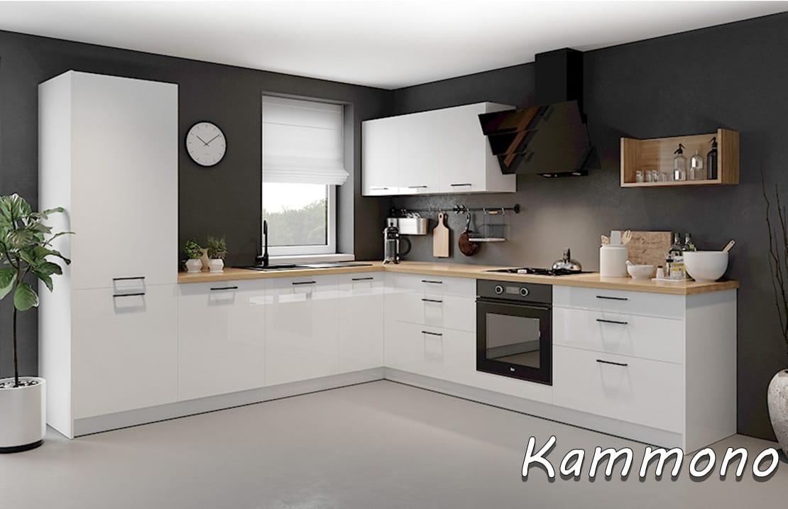 Szafka Kuchenna Kammono D 602d Kuchnia W Biały Połysku