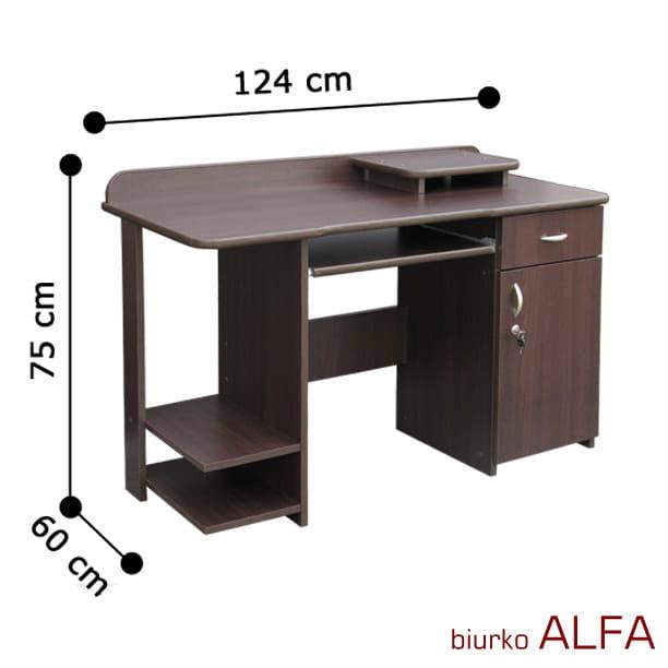 Biurko Pod Komputer Alfa Z Zamkiem