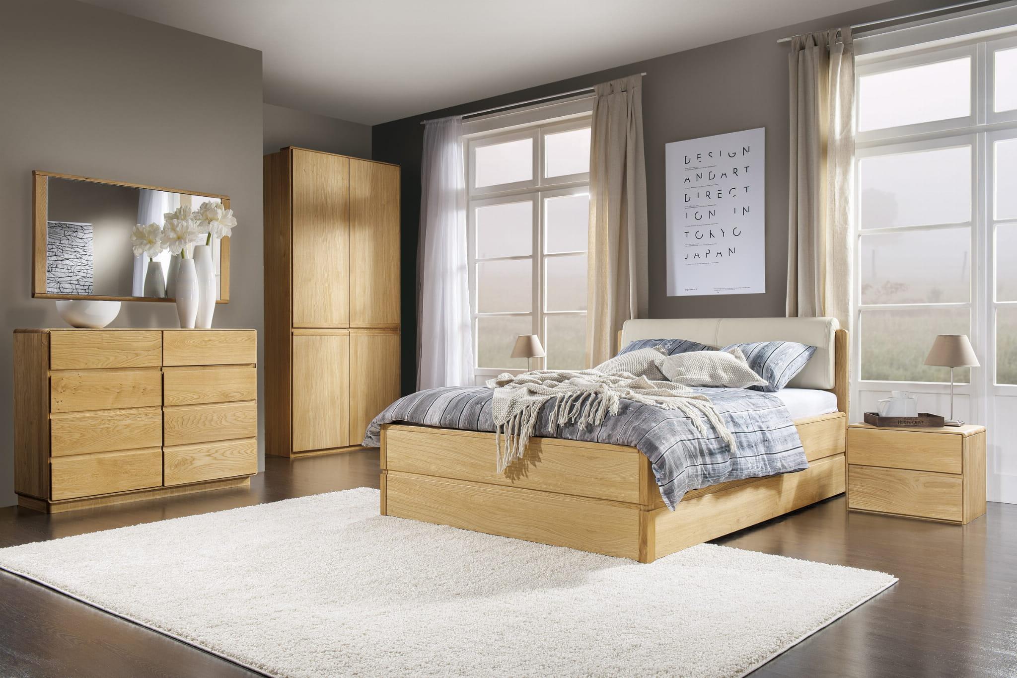W Ultra łóżko drewniane Atlanta typ 16-masywne łóżka do sypialni, meble EC72
