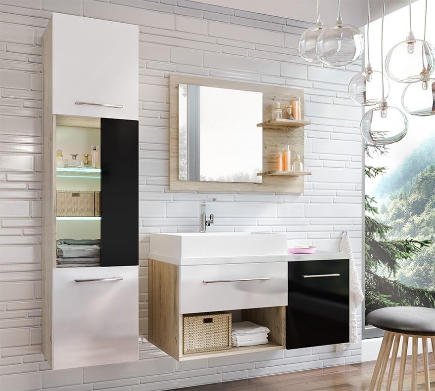 Szafka łazienkowa Z Lustrem Aruba 50 Cm ładne Meble Do łazienki