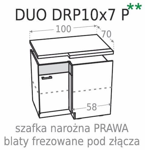 Meble Kuchenne Kamduo Szafka Narożna Duo Drp 10 X 7p